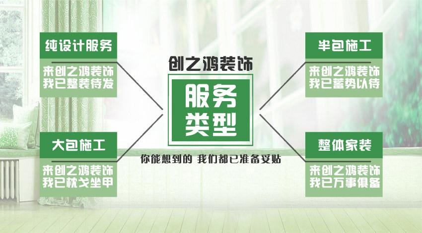创之鸿装饰4大服务类型