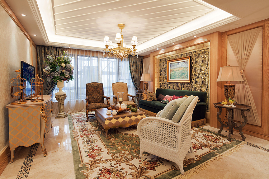首创悦山郡83㎡两室一厅田园风格装修