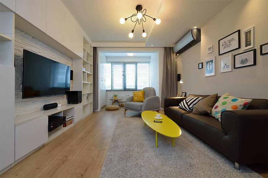 保利香颂湖87平米两室两厅北欧风格装修效果图