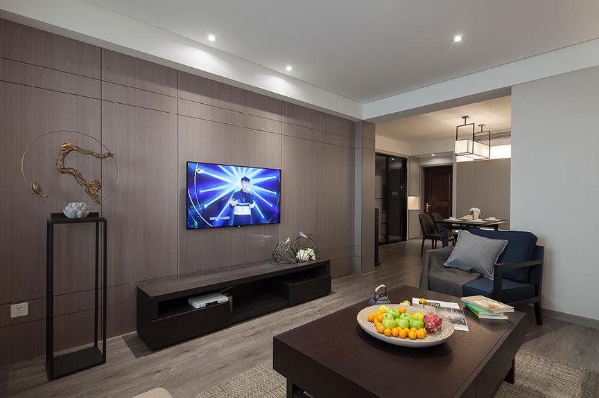 保利香颂湖90平米两室两厅混搭风格装修效果图