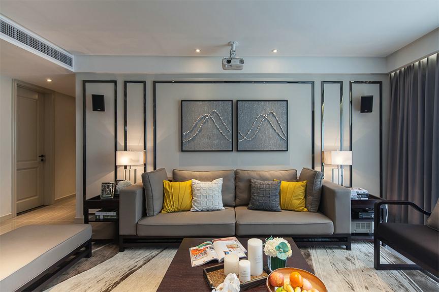 保利香颂湖115平米三室两厅北欧风格装修效果图