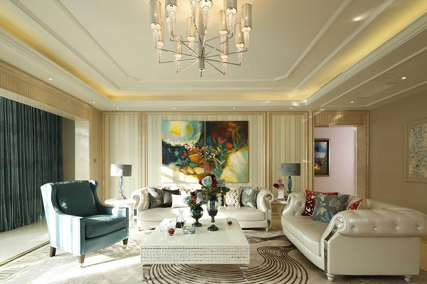 航天家园87平米三室两厅欧式风格装修效果图