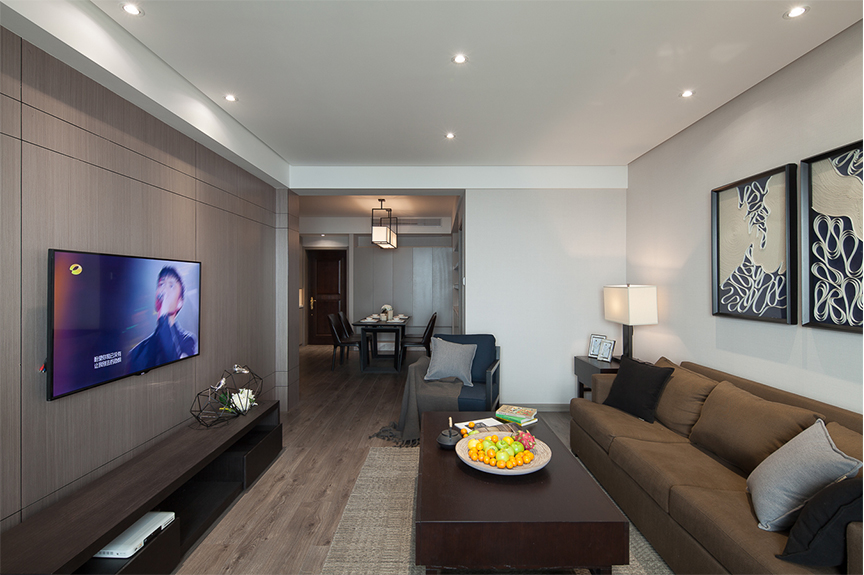 红磡领世郡领世深白88平米三室两厅北欧风格装修效果图