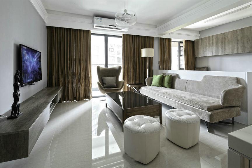红磡领世郡领世深白104平米两室两厅北欧风格装修效果图