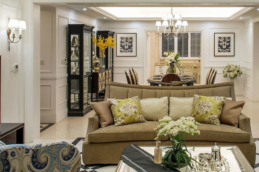 红磡领世郡人才公寓93平米两室两厅欧式风格装修效果图