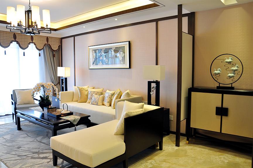 红磡领世郡人才公寓101平米三室两厅东南亚风格装修效果图