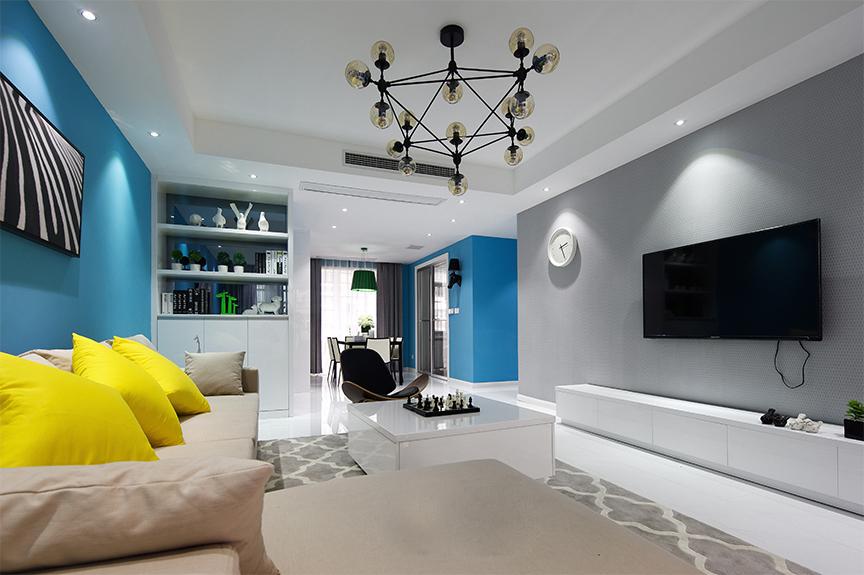 万科金域国际82平米两室两厅北欧风格装修效果图