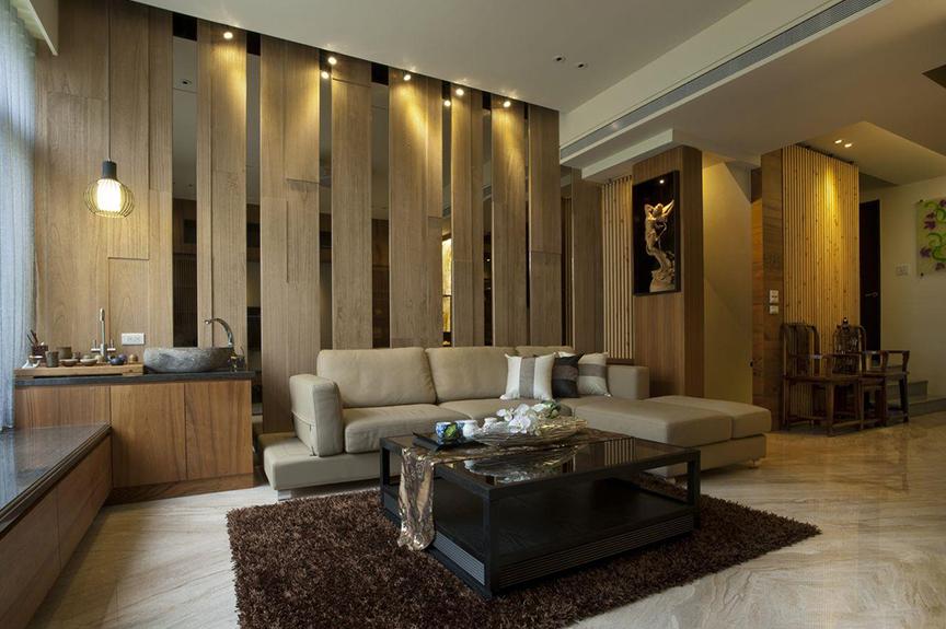 万科金域国际88平米两室两厅东南亚风格装修效果图