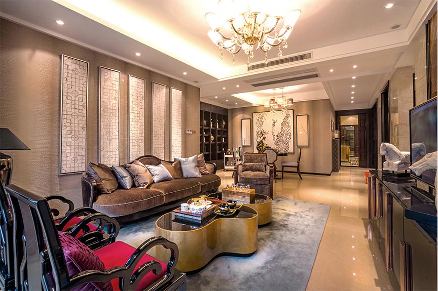 意境兰庭94平米两室两厅东南亚风格装修效果图