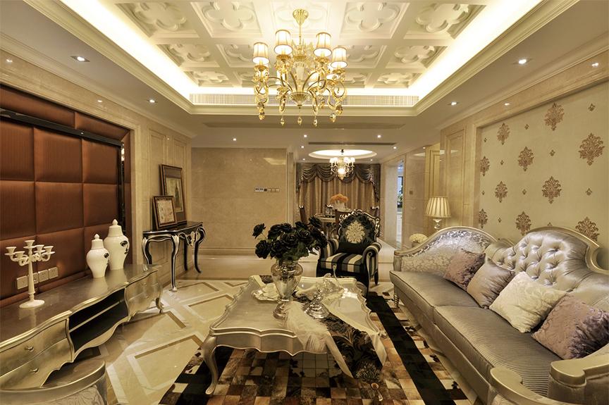 招商果岭106平米两室两厅欧式风格装修效果图