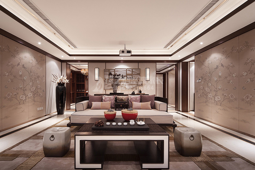 象博豪庭116平米三室两厅东南亚风格装修效果图