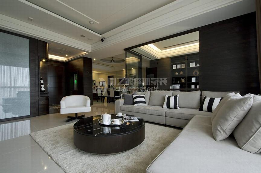 珠峰里77平米两室两厅现代风格装修效果图