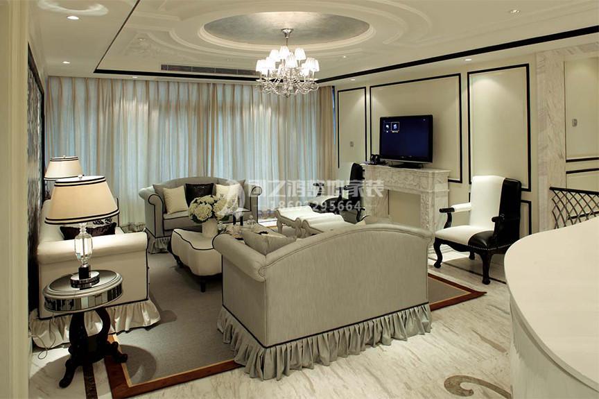 仁恒滨河湾101平米两室两厅欧式风格装修效果图