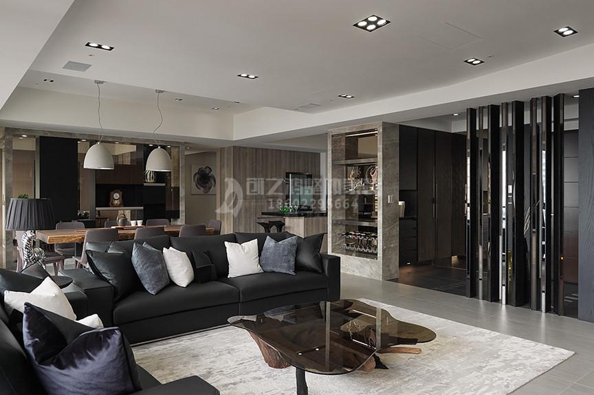 仁恒滨河湾94平米两室两厅现代风格装修效果图