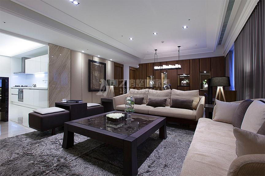 摩卡假日91平米两室两厅现代风格装修效果图