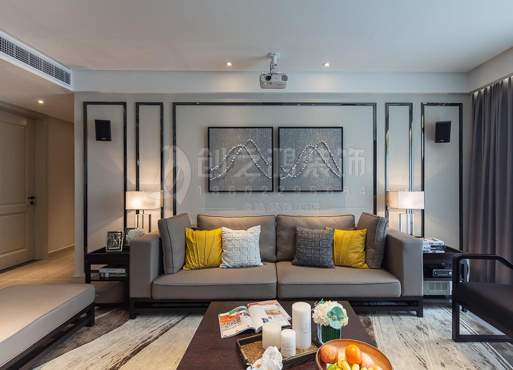 财富绿道丹庭三室两厅132㎡北欧风格装修效果图