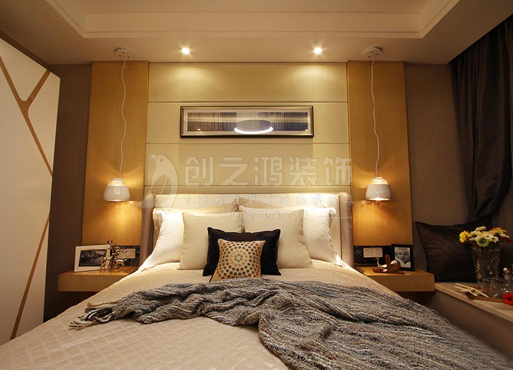 天津恒大帝景128㎡三室两厅现代风格装修效果图