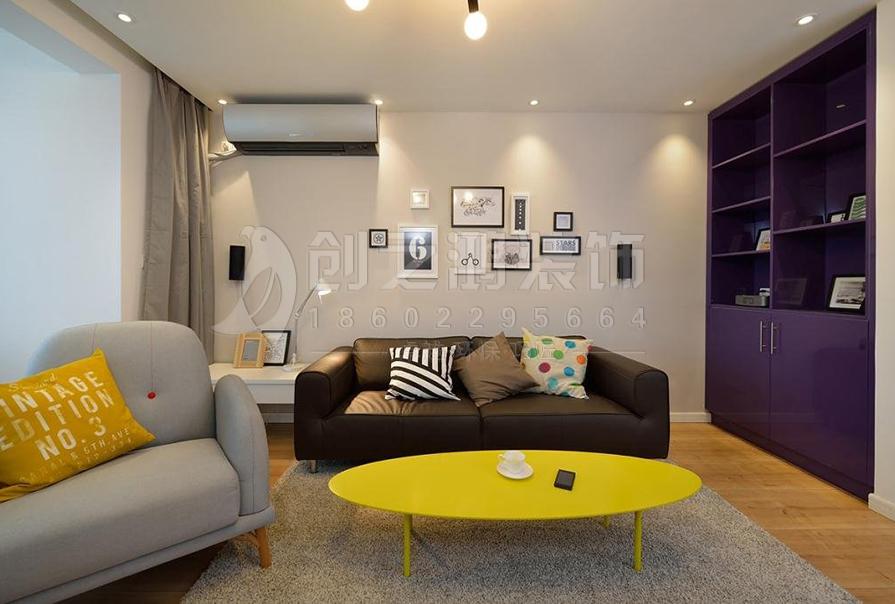 路劲太阳城92㎡二室二厅北欧风格装修效果图