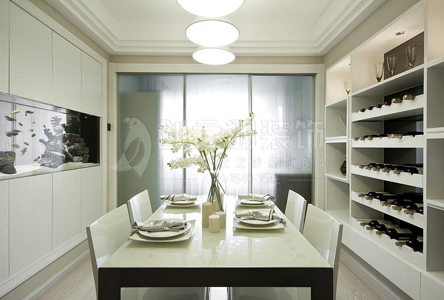 路劲太阳城121㎡三室两厅现代简约风格装修效果图
