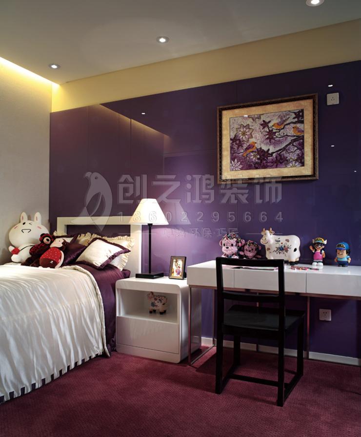天津恒大帝景128㎡现代风格装修效果图