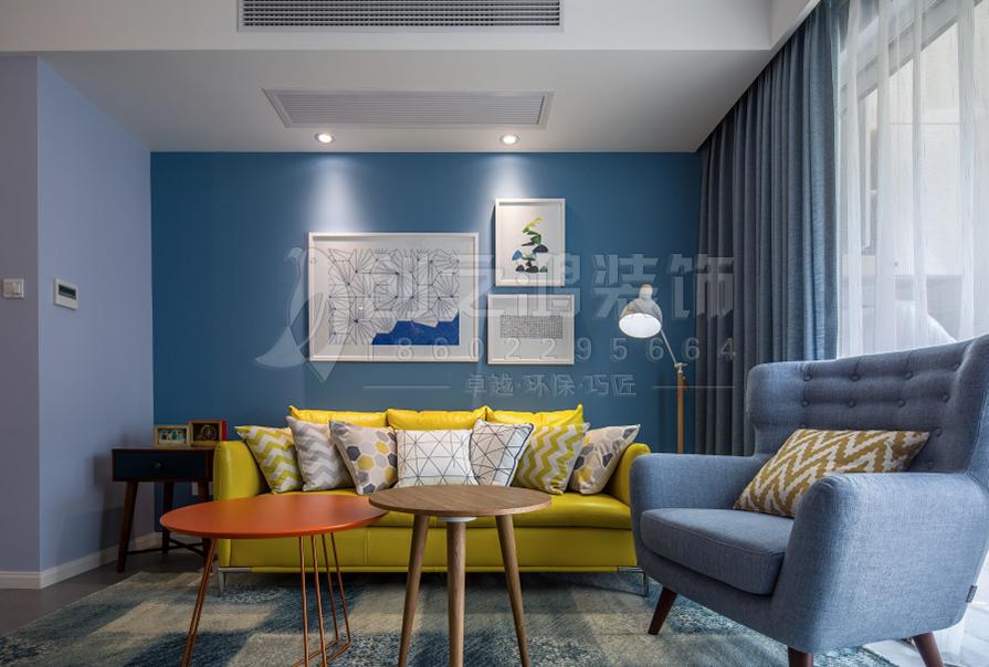 财富绿道丹庭84㎡二室二厅北欧风格装修效果图