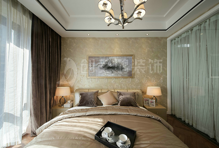 天津全运村113㎡三室两厅现代风格装修效果图