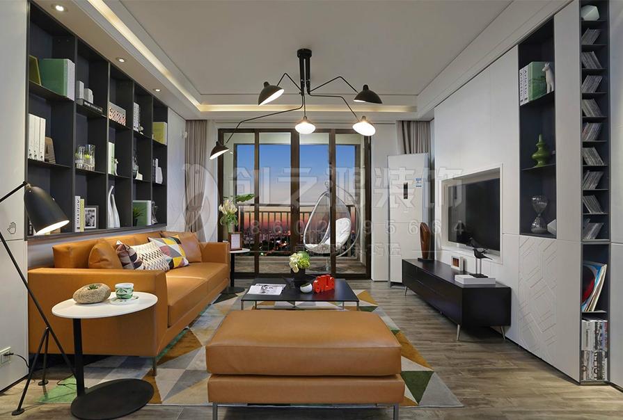 财富绿道丹庭132㎡三室两厅现代风格装修效果图