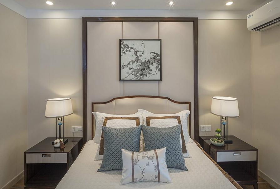 天房麗山106㎡二室二厅中式风格装修效果图