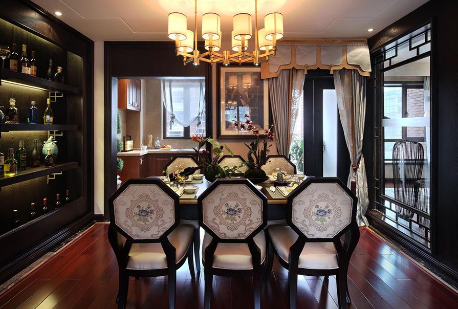 天房海河湾160㎡四室二厅中式风格装修效果图