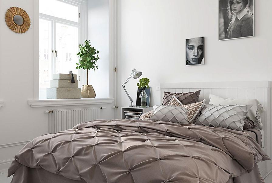 融创中心50㎡一室一厅北欧风格装修效果图