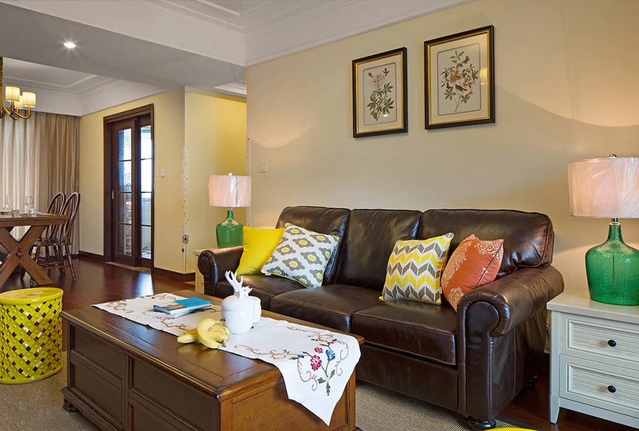 财富绿道丹庭93㎡二室二厅欧式风格装修效果图