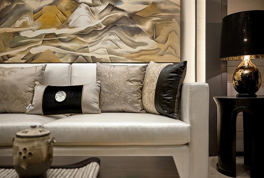 路劲太阳城99㎡三室二厅中式风格装修效果图
