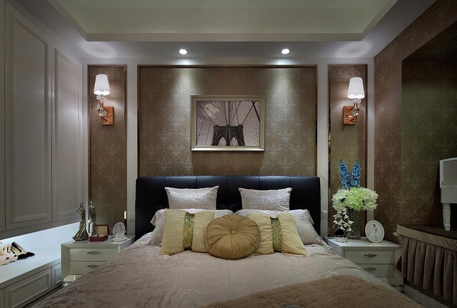 富豪新开门90㎡二室二厅欧式风格装修效果图