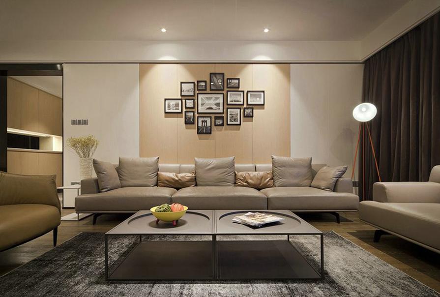 财富绿道丹庭93㎡二室二厅现代风格装修效果图