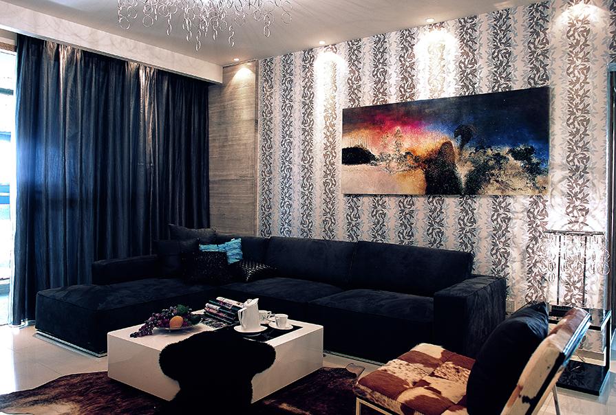 境界梅江159㎡三室二厅现代风格装修效果图