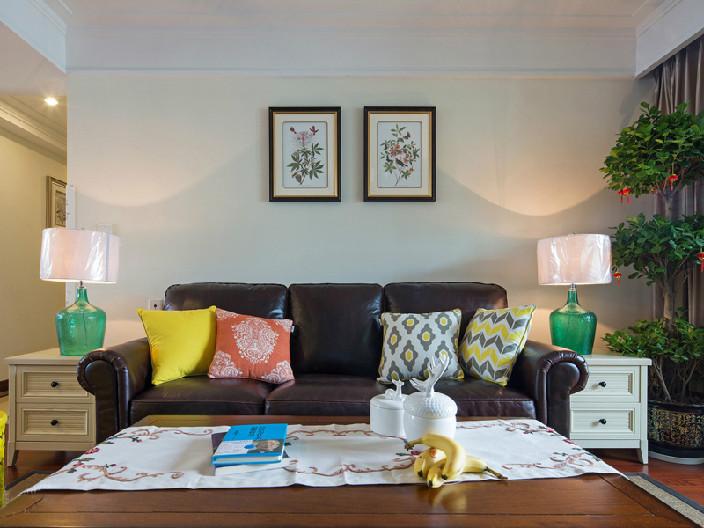 泰达城河与海87㎡两室一厅欧式风格装修效果图