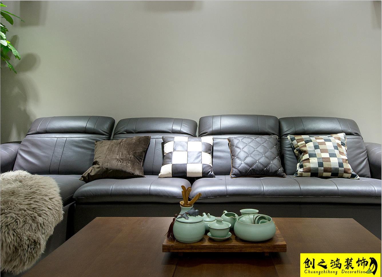 141㎡融科瀚棠三居室现代简约风格装修效果图