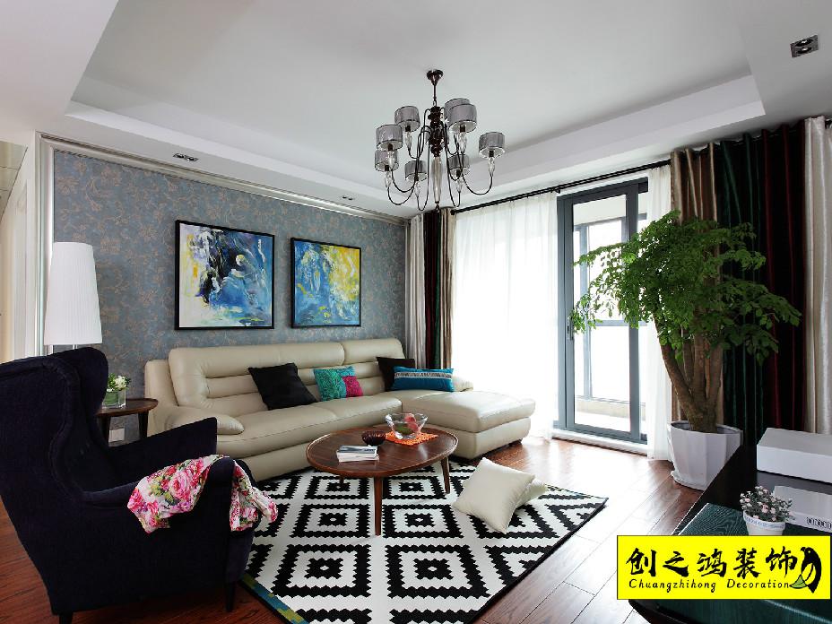 145㎡新梅江锦绣里三室两厅混搭风格装修效果图