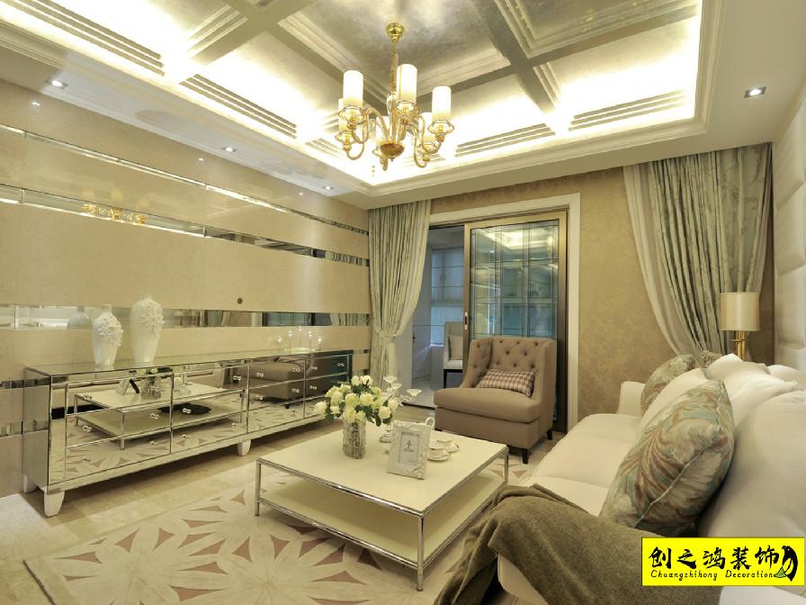 145㎡新梅江锦绣里三室两厅新古典风格装修效果图