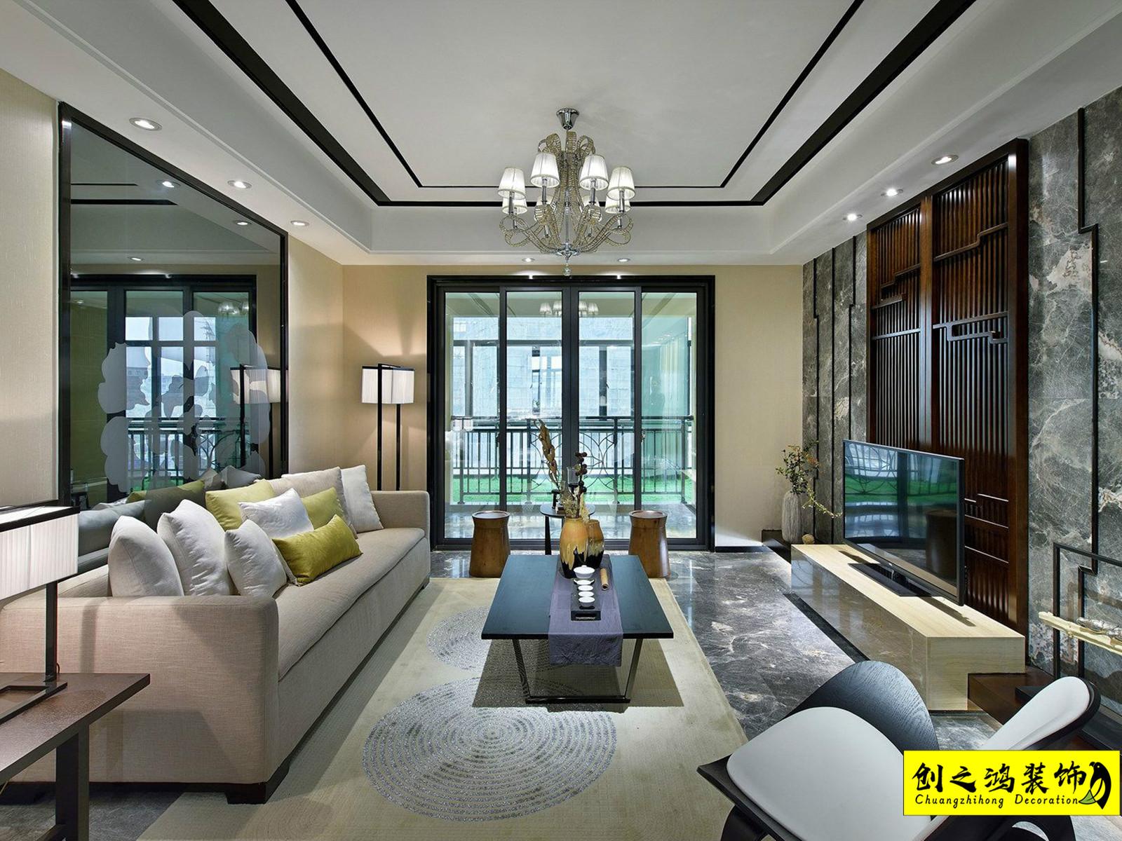 142㎡天房天泰四室两厅中式风格装修效果图