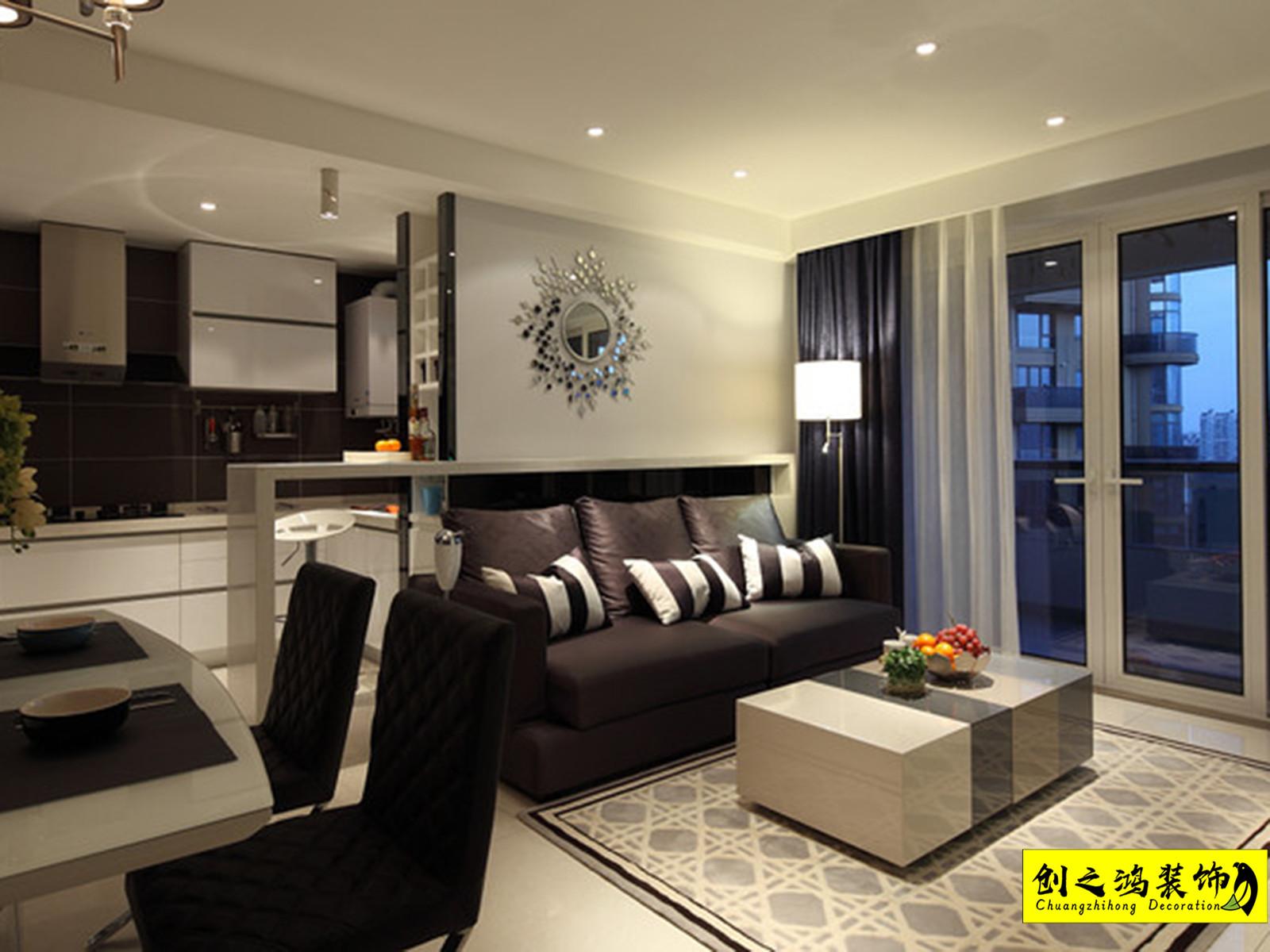 71㎡鼎福汇一居室现代简约风格装修效果图