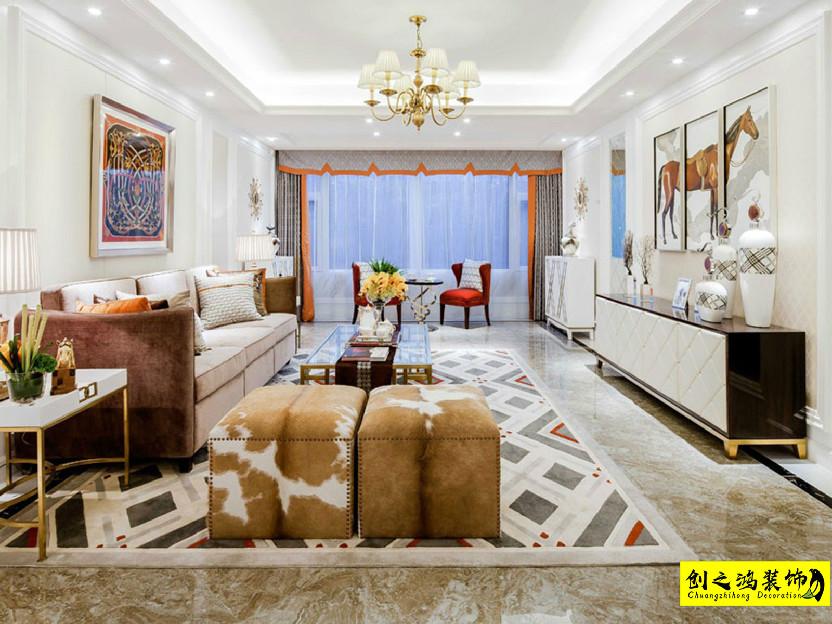 145㎡新梅江锦绣里三室两厅现代简约风格装修效果图