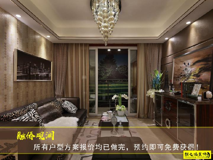 132㎡融侨观澜三室两厅欧式风格装修效果图