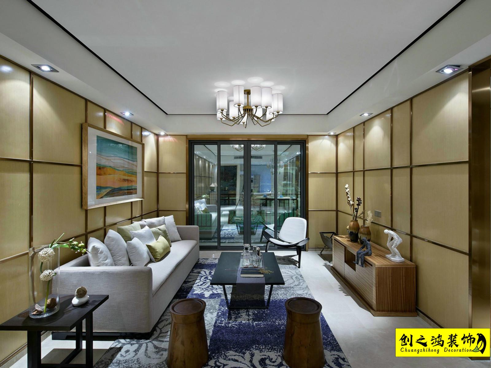 88㎡中海寰宇天下二室二厅现代简约风格装修效果图
