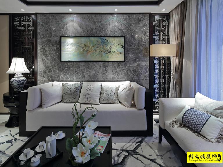 115㎡天房天泰三室两厅中式风格装修效果图