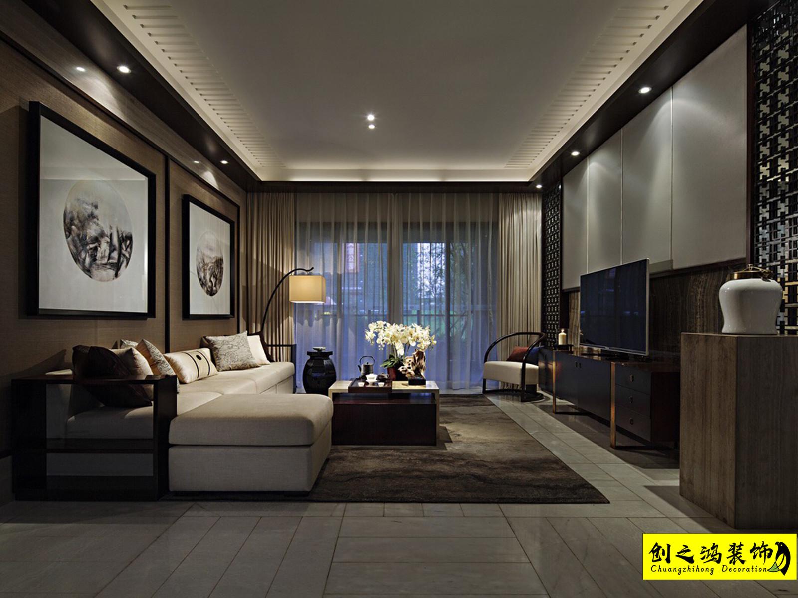150㎡金地艺城瑞府四室两厅中式风格装修效果图