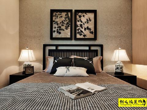 156㎡海河大观三室两厅中式风格装修效果图