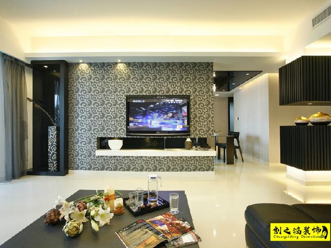 120㎡万科民和巷三室两厅现代简约风格装修效果图