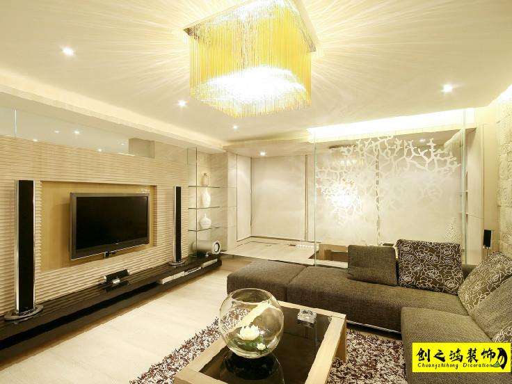 115㎡万科金域华府三室两厅现代简约风格装修效果图
