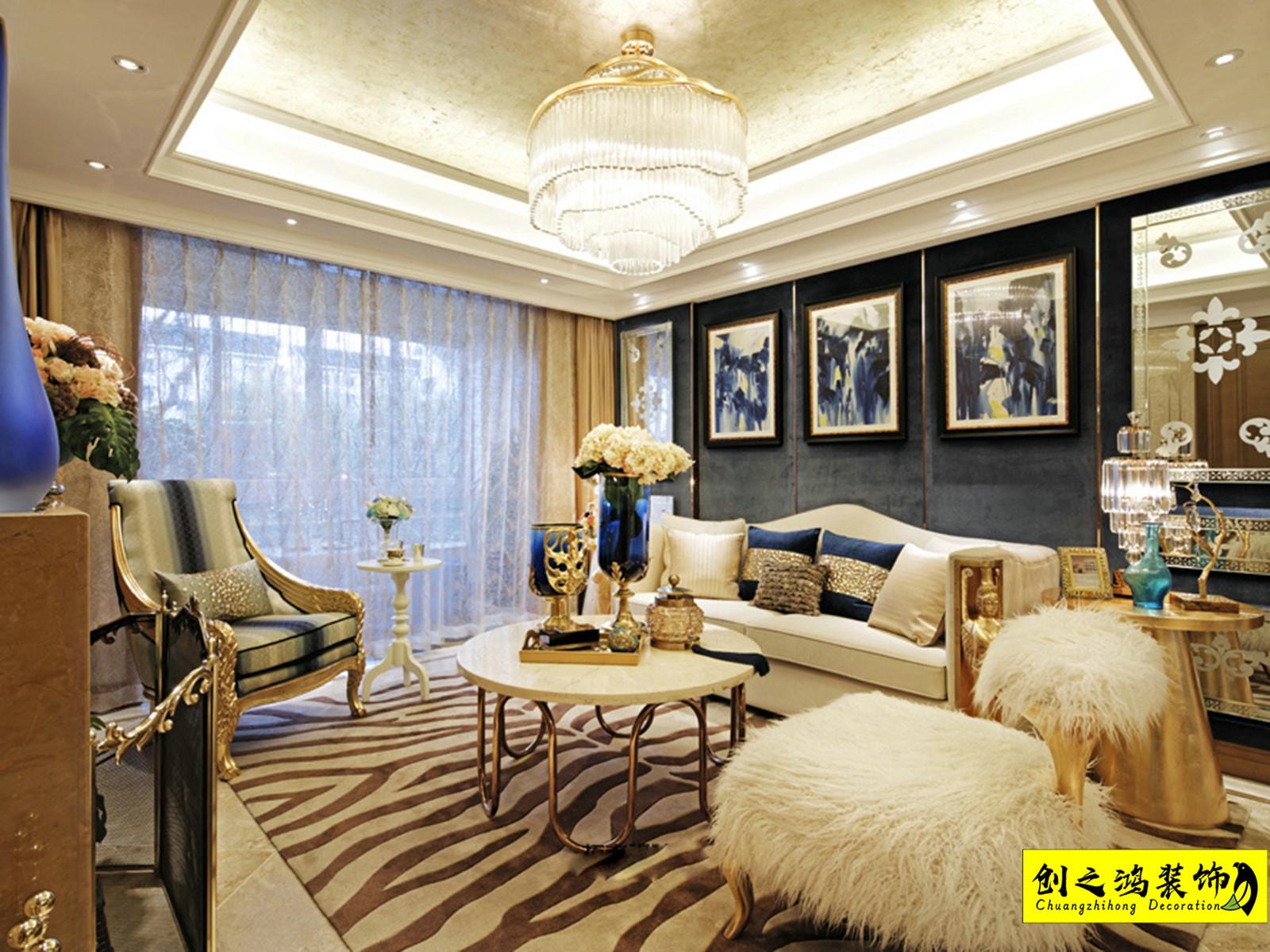 118㎡融侨观澜三室两厅欧式风格装修效果图